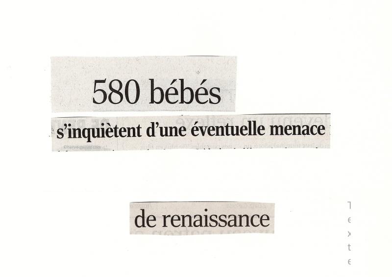 580 bébés