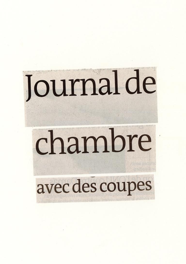Journal de chambre