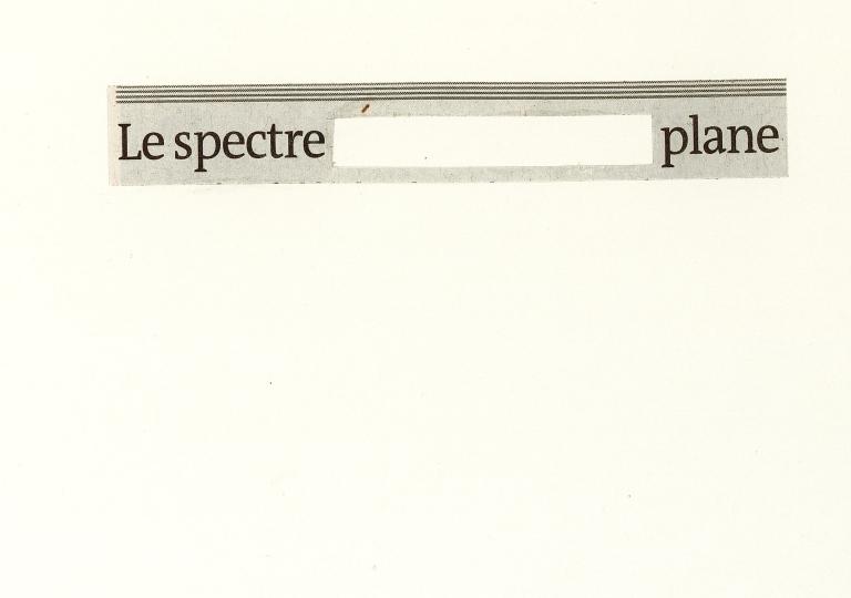 Le spectre plane