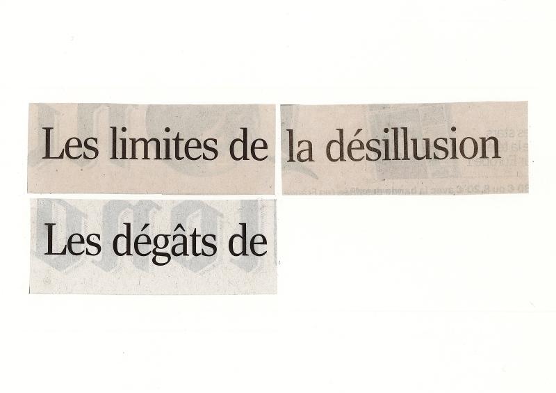 limites et dégâts