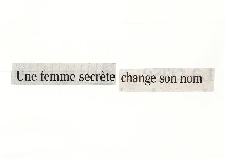 femme secrète